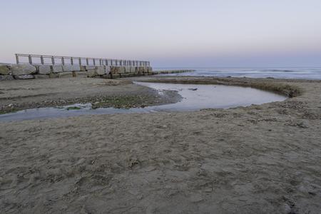 Chinchilla mouth of the river (Oropesa, Castellon - Spain). Banco de Imagens