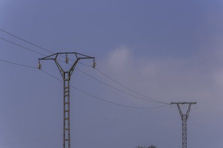 power: Power lines. Stock Photo