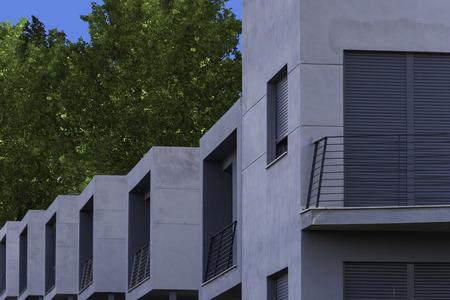 terraced: Terraced houses. Stock Photo