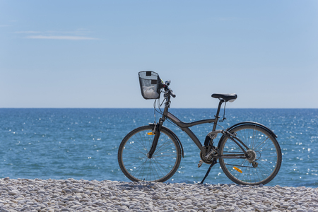 Bycicle on the coast.