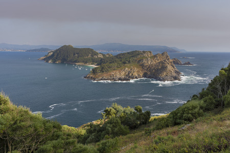 San Martino Island (Cies Islands, Pontevedra - Spain). Stock Photo