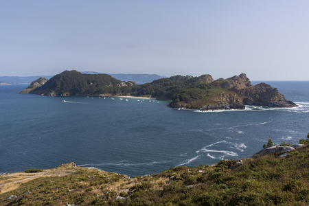 martino: San Martino Island (Cies Islands, Pontevedra - Spain). Stock Photo