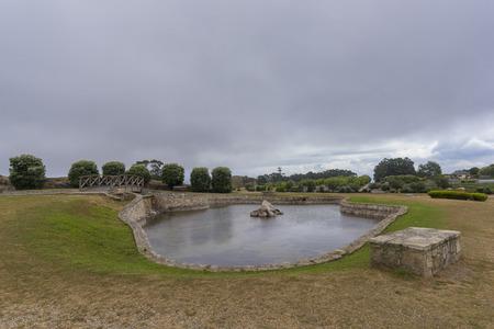 bens: Lake in Bens Park (La Coruna, Spain).