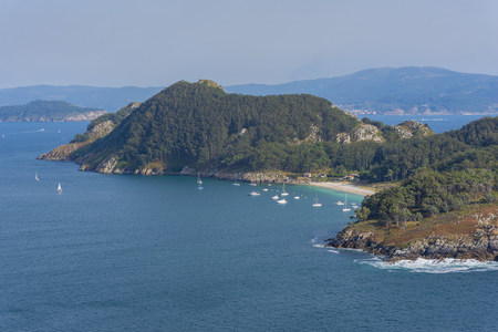 San Martino Island (Cies Islands, Pontevedra - Spain). Stock Photo