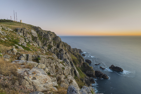 Coast of Finisterre (La Coruna, Spain). Stock Photo