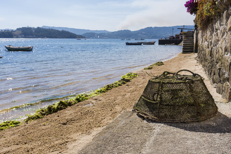 Fishing gadget in Combarro (Pontevedra, Spain).