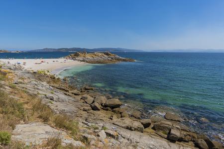 Lago beach in Cies Islands (Pontevedra, Spain).