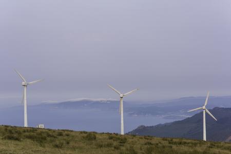 kinetic energy: Wind turbines.