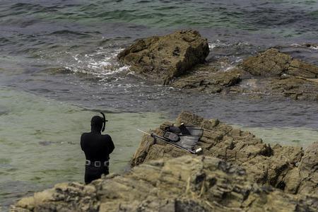 furtive: Diver. Stock Photo