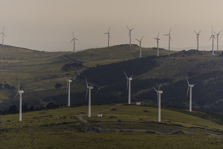 kinetic energy: Wind farm. Stock Photo