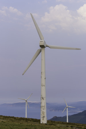 kinetic energy: Wind turbine.