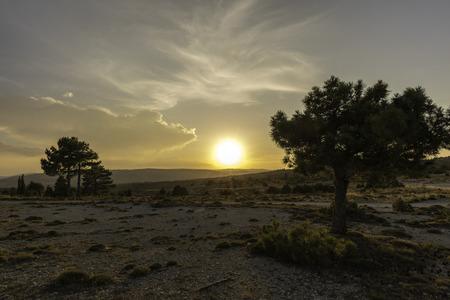 Sunset in Mosqueruela (Teruel, Spain).