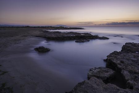 Small beach in Torrelasal (Cabanes, Castellon - Spain). Stock Photo
