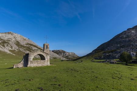 covadonga: Chapel of Buen Pastor (Lakes of Covadonga, Asturias - Spain).