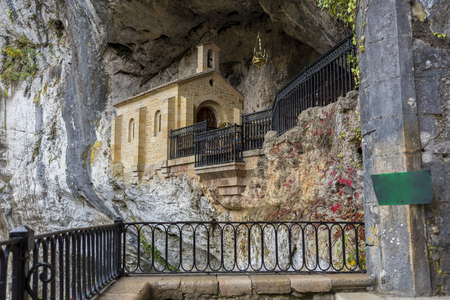 Chapel of the virgin of Covadonga (Asturias, Spain). Stock Photo
