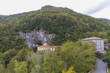 Cave of the virgin of Covadonga (Asturias, Spain).