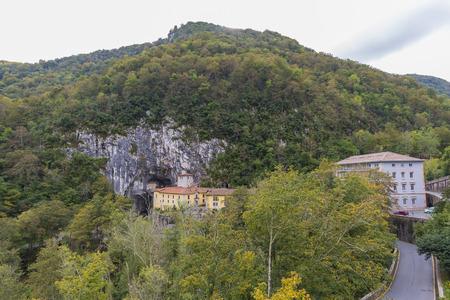 covadonga: Cave of the virgin of Covadonga (Asturias, Spain).