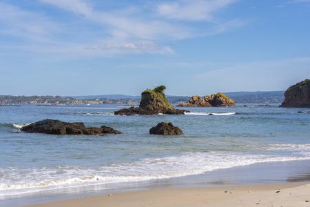 Beach of San Pedro, in Veigue (Bergondo, La Coruna - Spain). Stock Photo