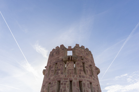 crenellated tower: Crenellated tower of Vilafames castle (Castellon, Spain).
