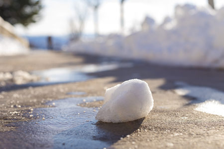 inclement weather: Snowball in the street.