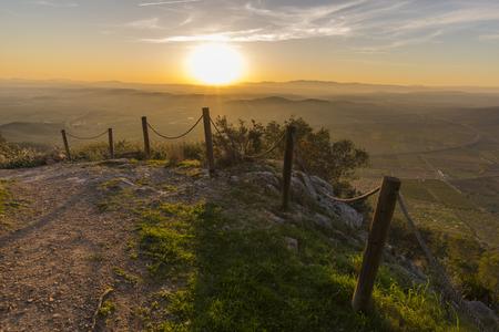 Sunset in Alcocebre (Castellon, Spain).