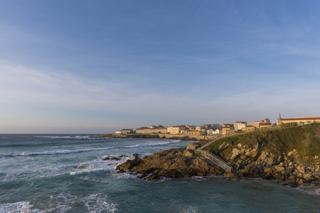 Coast of Caion (La Coruna, Spain). Stock Photo