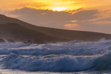 Coast of Caion (La Coruna, Spain). Stock Photo