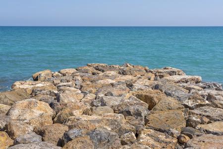 Breakwater on the sea.
