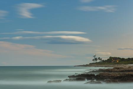 Coast and Alcocebre lighthouse (Castellon, Spain).