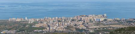 Panoramic 4:1 of Oropesa del Mar (Castellon, Spain). Stock Photo