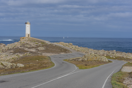 Roncudo lighthouse (Ponteceso, La Coruna - Spain).