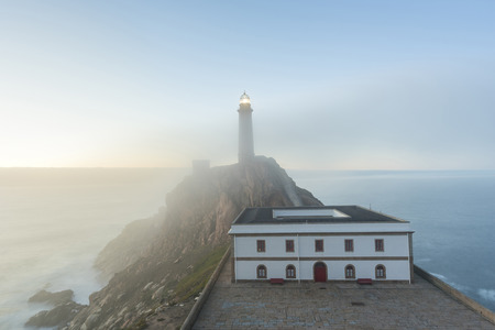 Vilan lighthouse (Camarinas, La Coruna - Spain). Stock Photo - 91436426