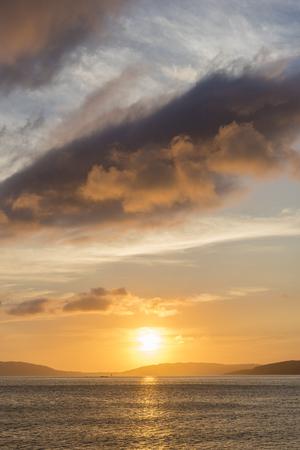 Sunset in Ezaro (La Coruna, Spain).