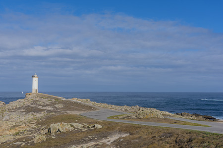 Lighthouse of Roncudo Cape (Ponteceso, La Coruna - Spain).