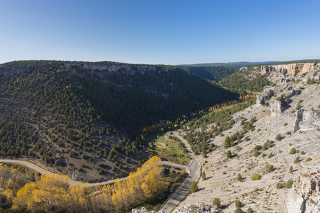 Canyons of Lobos river (Soria, Spain).