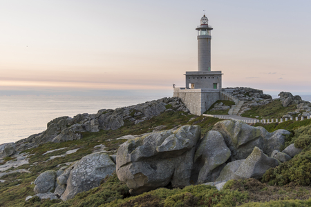 Lighthouse of Punta Nariga (Malpica, La Coruna - Spain)- Stock Photo