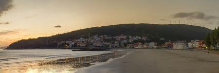 Beach of Ezaro (La Coruna, Spain). Stock Photo - 97130898