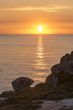 Sunset in Punta Nariga (Malpica, La Coruna - Spain).