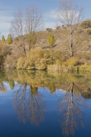 Duero river near Soria city, Spain.