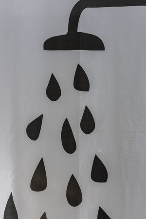 Shower with water drops.