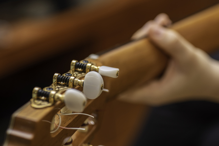 Guitar headstock. Stock Photo