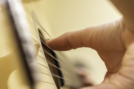 Playing guitar. Stock Photo