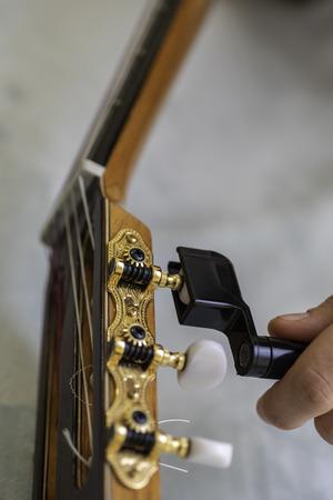 Tuning spanish guitar.