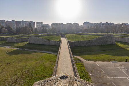 The Ciudadela park (Pamplona, Navarra - Spain). Stock Photo
