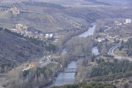 Duero river in Soria, Spain.
