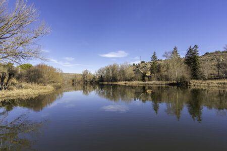 River walk of Duero river (Soria, Spain).