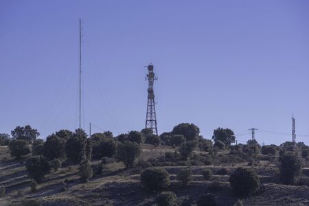 Antenna of telecomunications in Soria, Spain.