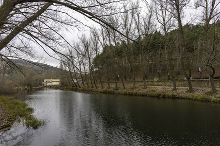River walk of Duero river (Soria, Spain).