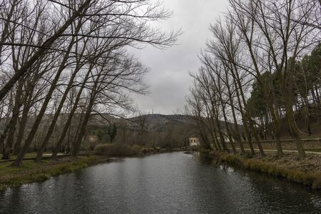 River walk of Duero river (Soria, Spain). 스톡 콘텐츠 - 146304222