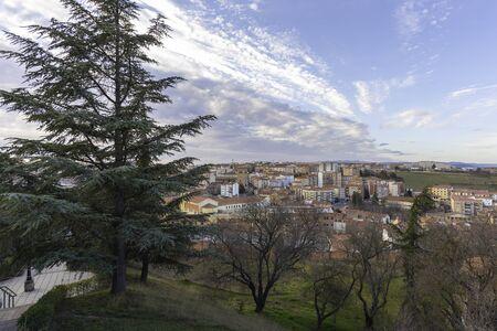 View of Soria from lookout of El Sagrado Corazon (Soria, Spain).